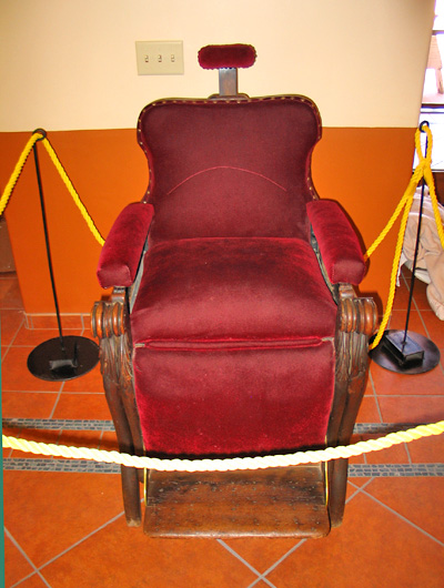 billy the kid. chair where Billy the Kid